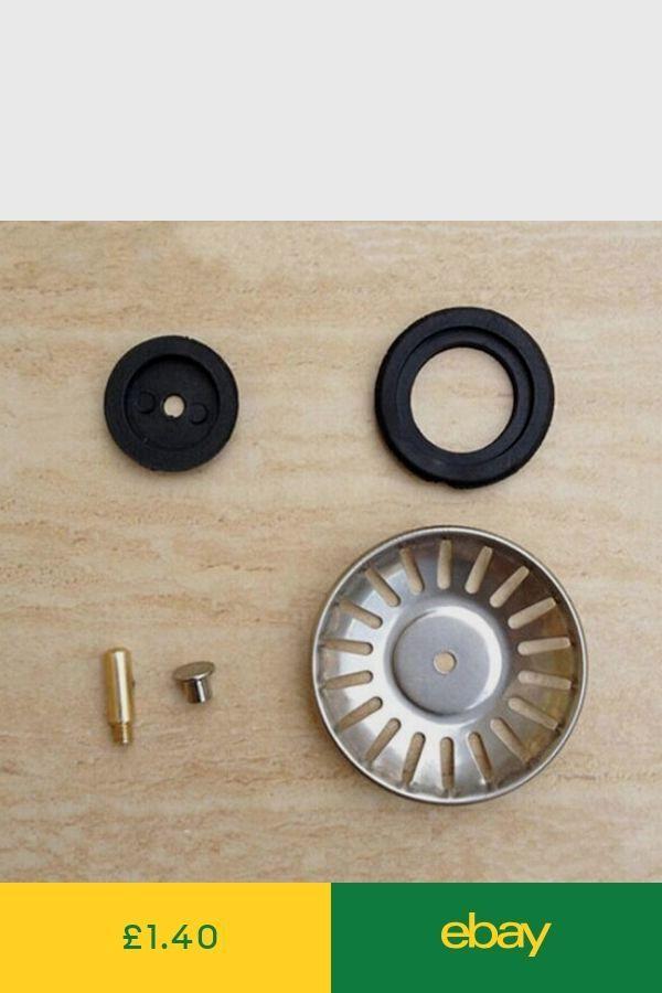 2x Stainless Steel Kitchen Sink Drain Stopper Basket Strainer Waste Plug 65mmrr