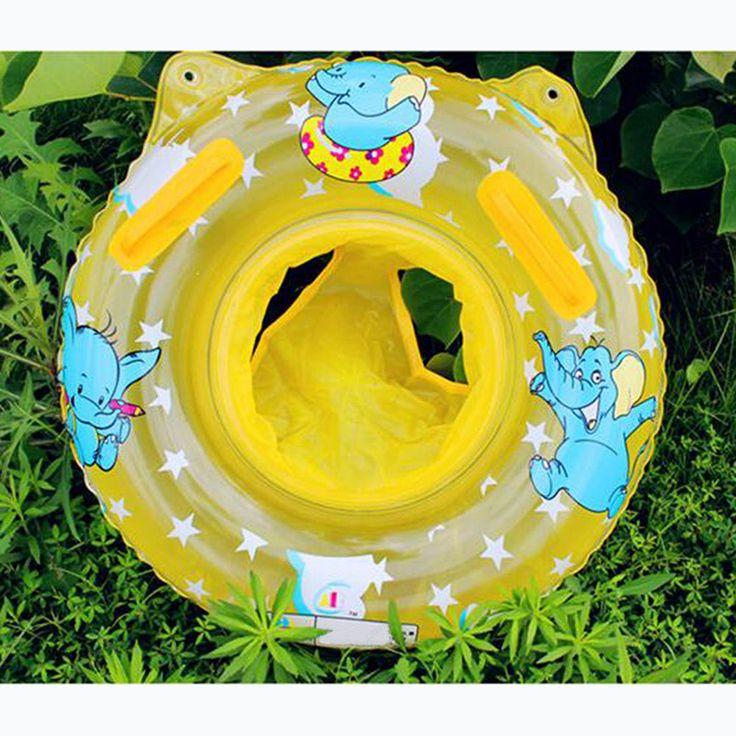 1 PZ Molle Bello Gonfiabile Per Bambini Nuoto Anello Maniglie Bambino del bambino di Sicurezza Aid Blu/Rosa Chiaro Galleggiante Sede dell'anello di Nuotata anello