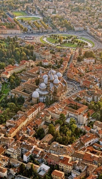 Flying over Padova, Italy (by Versilio Vecchira)