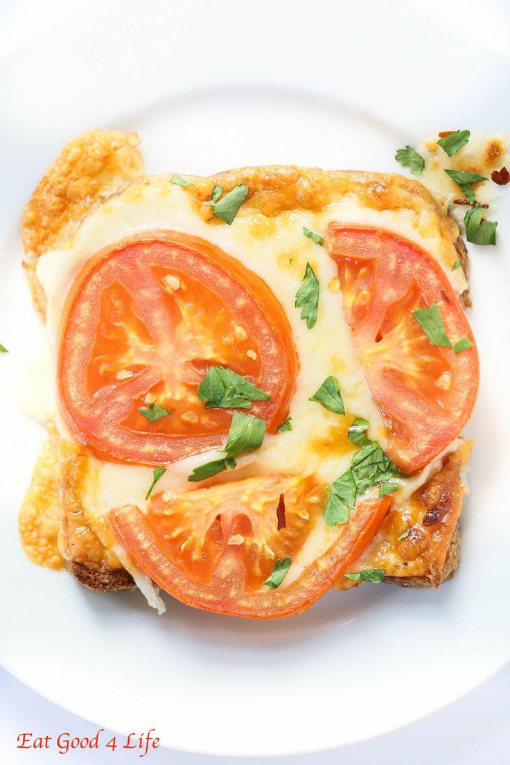 super easy tomato cheese toast | Eat Good 4 Life