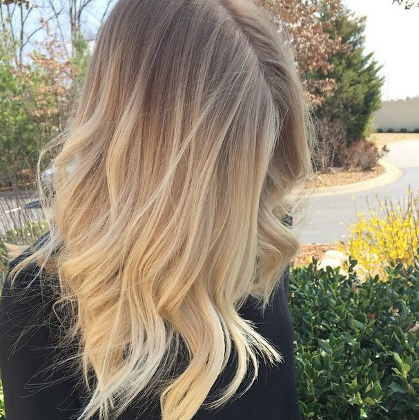Blonde ombre by B L O N D E SALON • #blonde #hair #ombre #inspiration #fayetteville #arkansas #blondefayetteville #prettyhair #waves #haircut #haircolor #oribe #highlights #beauty #salon #hairinspiration