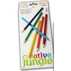 12 darabos, hegyezett és lakkozott színes ceruza készlet Creavive Jungle - Színes ceruzák - 199Ft - Színes ceruza készlet