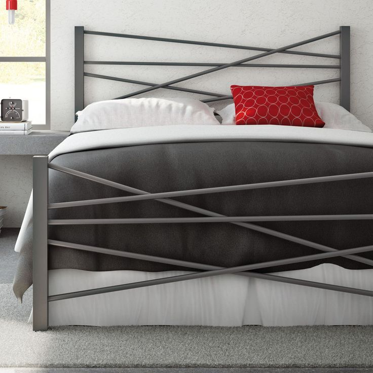 Amisco Crosston Metal Bed - With asymmetrical appeal for the bedroom, the Amisco Crosston Metal Bed instantly updates your space with strong steel and clean-lined flair. Select...