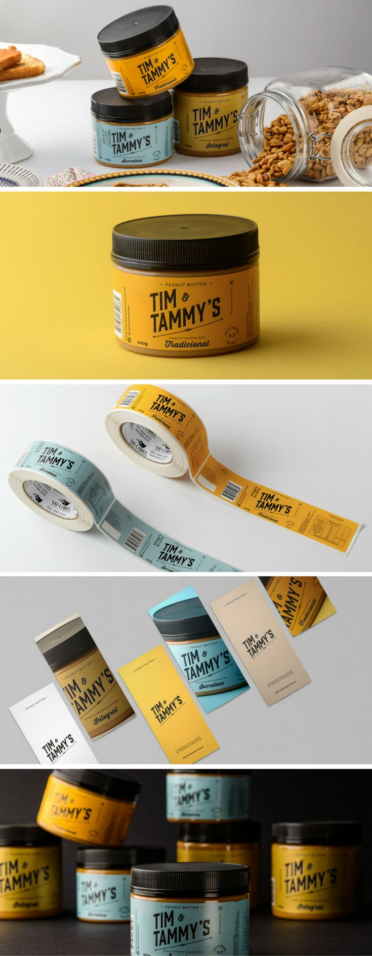 Packaging Design for Peanut Butter Company Tim & Tammy's