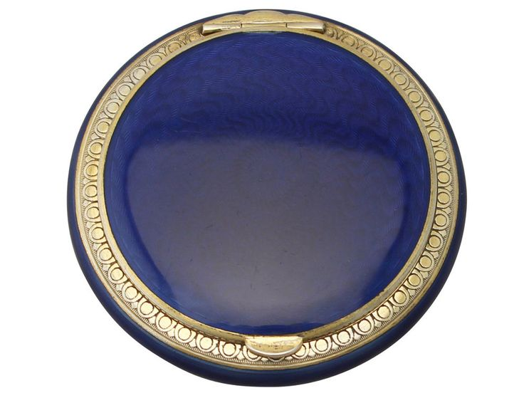 Norwegian Sterling Silver and Enamel Compact - Antique Circa 1930 #Unknown