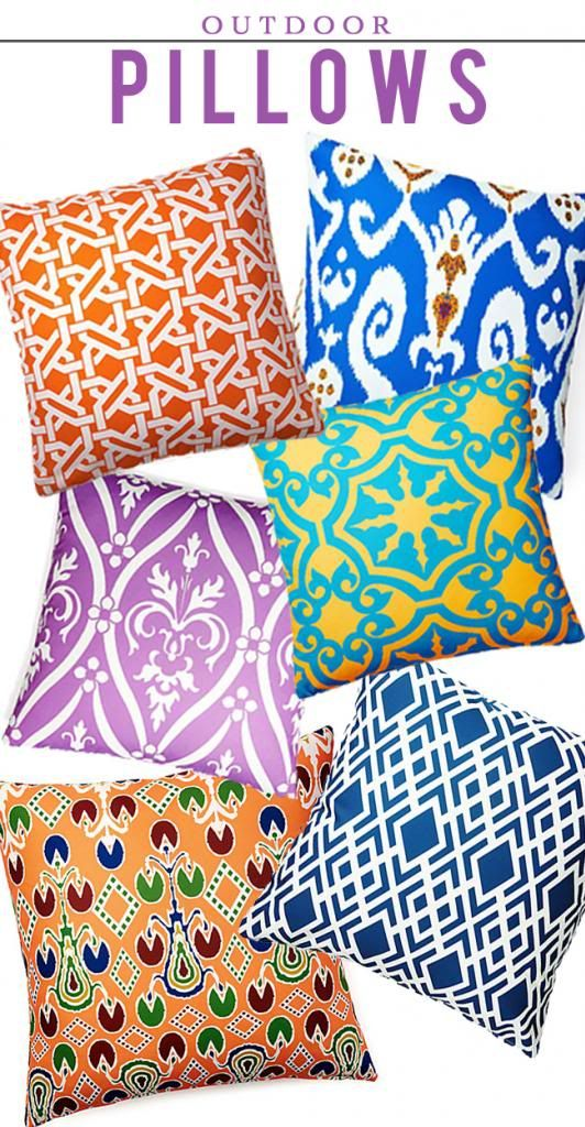 the HUNTED INTERIOR: Outdoor Pillows under $50