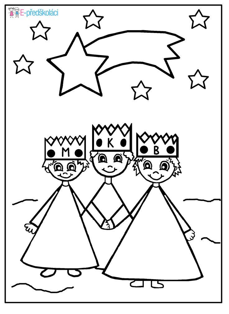 Omalovánka - Tři králové