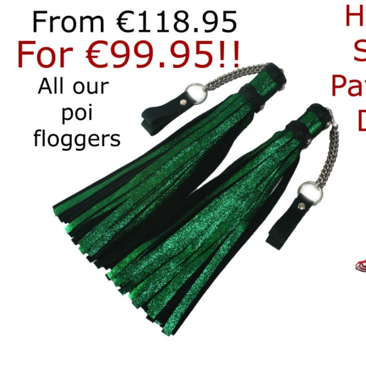 Happy Saint Patrick's day! All our poi floggers are on sale! Check it out :-)