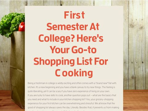 Want to cook in your dorm room? Here's a great shopping list to get you started on the basics in the kitchen   #cooking #college #dorm room