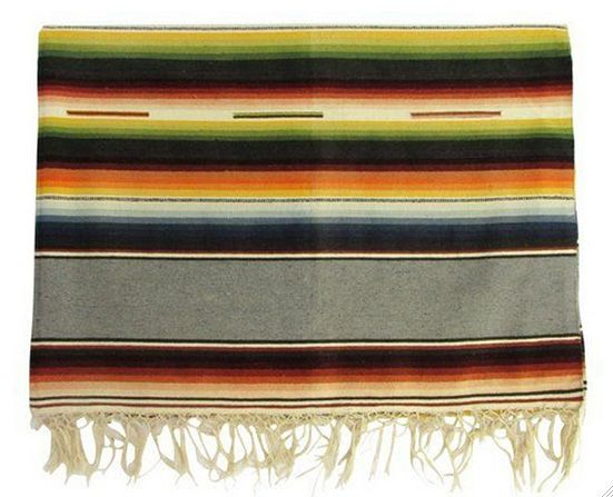 I love the colors in this vintage serape especially the warm grey. (Old California Style)