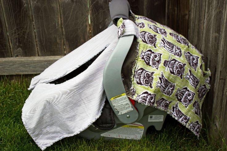 Owl Car Seat Rag Canopy!  Perfect for any natural or woodland theme!! by BabyBazerk on Etsy
