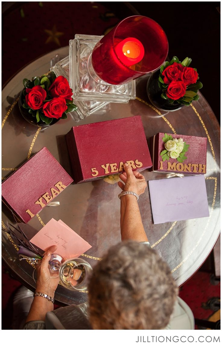 Great wedding idea: have family members write letters for the couple to open on their anniversaries!