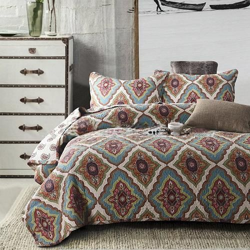 King-Size Fashion 3 or 4-PC Cotton Quilted Bedding Set