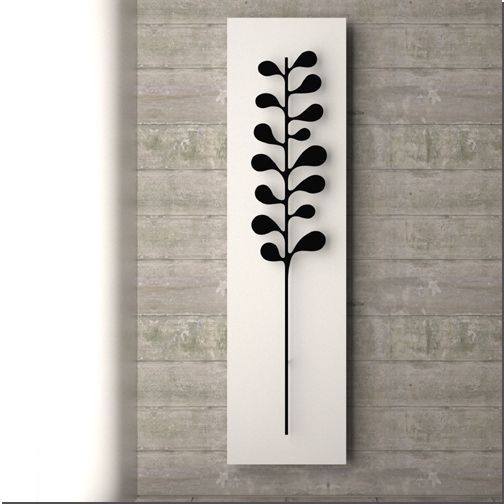 Nature is a set of towel warmer radiators inspired by the garden.