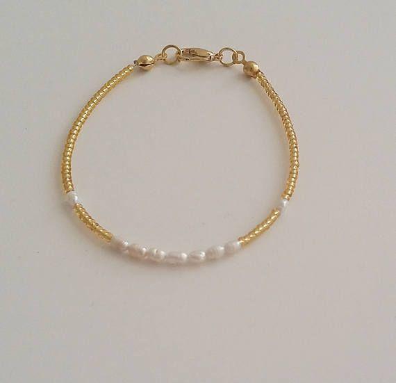 Pearl Bracelet Freshwater Pearl Bracelet Tiny Bracelet