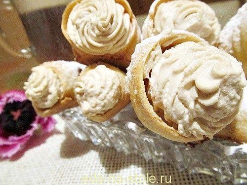Пирожное «Рожок с кофейным кремом»