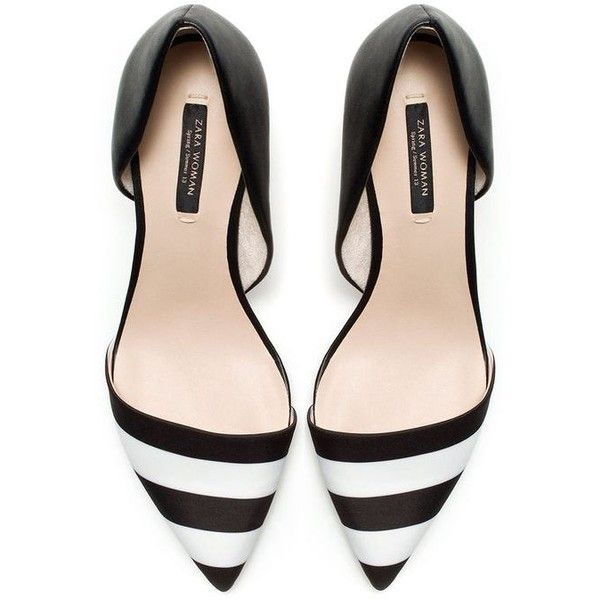 Black & White Striped Pumps. | Life in Black and White | Pinterest
