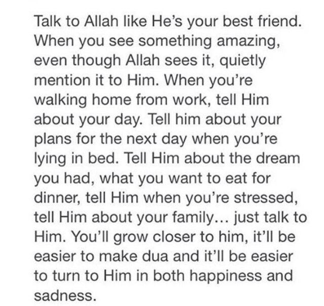 Like He's your best friend