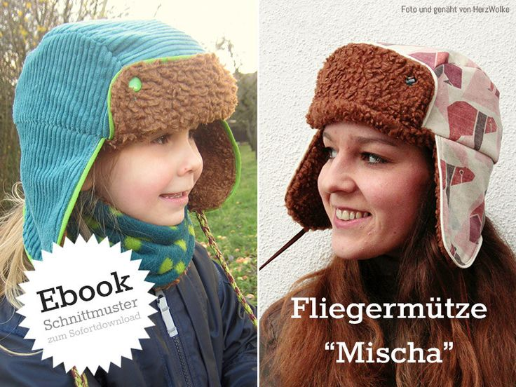 Schnittmuster+Fliegermütze+für+Erwachsene+&+Kinder+von+Kreativlabor+Berlin+auf+DaWanda.com