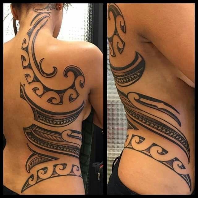 Neck . Back . Side Polynesian Tattoo