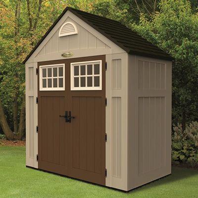 Suncast alpine storage shed work shed for Garden shed 5x3