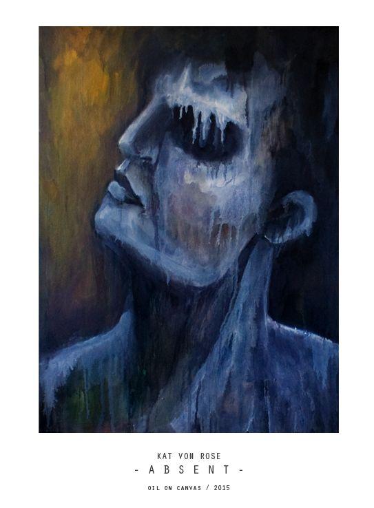 expressionism painting by Kat Von Rose  #art #painting #katvonrose