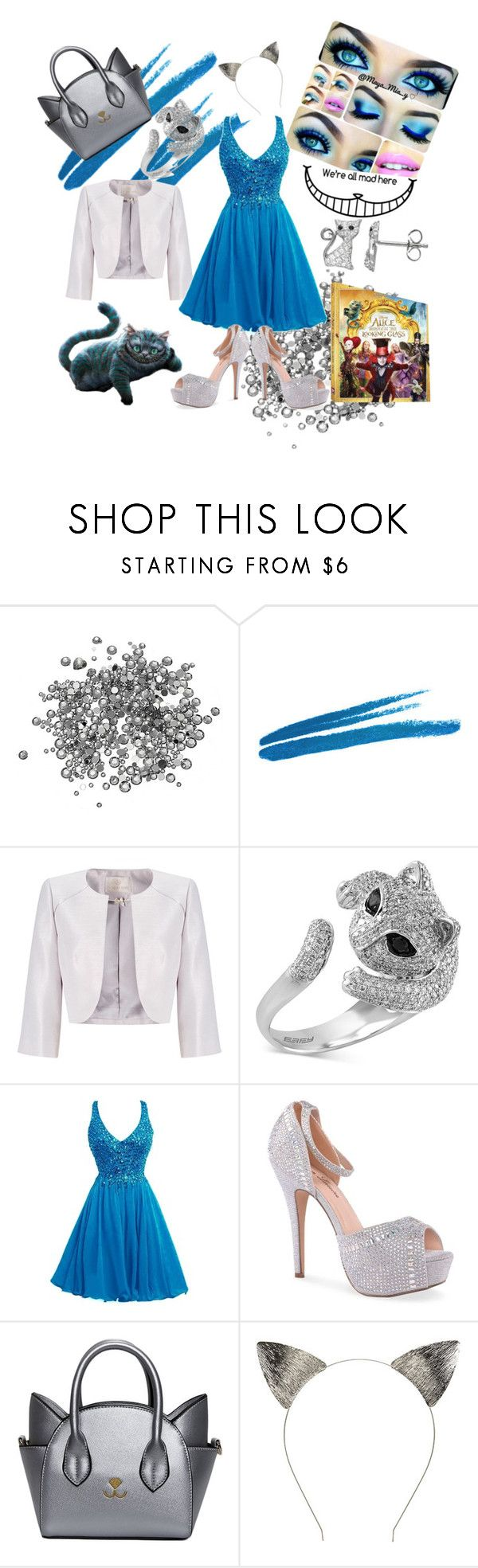 """Cheshire"" by nemfalco ❤ liked on Polyvore featuring Jacques Vert, Effy Jewelry, Lauren Lorraine, WALL, contestentry, cheshirecat and DisneyAlice"