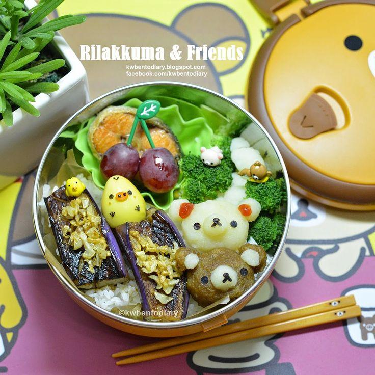 Karenwee's Bento Diary: Bento2015#Apr23~Rilakkuma & Friends