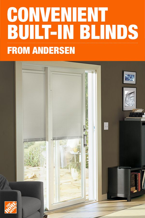 Blinds Between The Glass Puts Privacy At Your Fingertips And Makes Cleaning A Breeze This Innovative De Patio Doors Small House Decorating Sliding Patio Doors