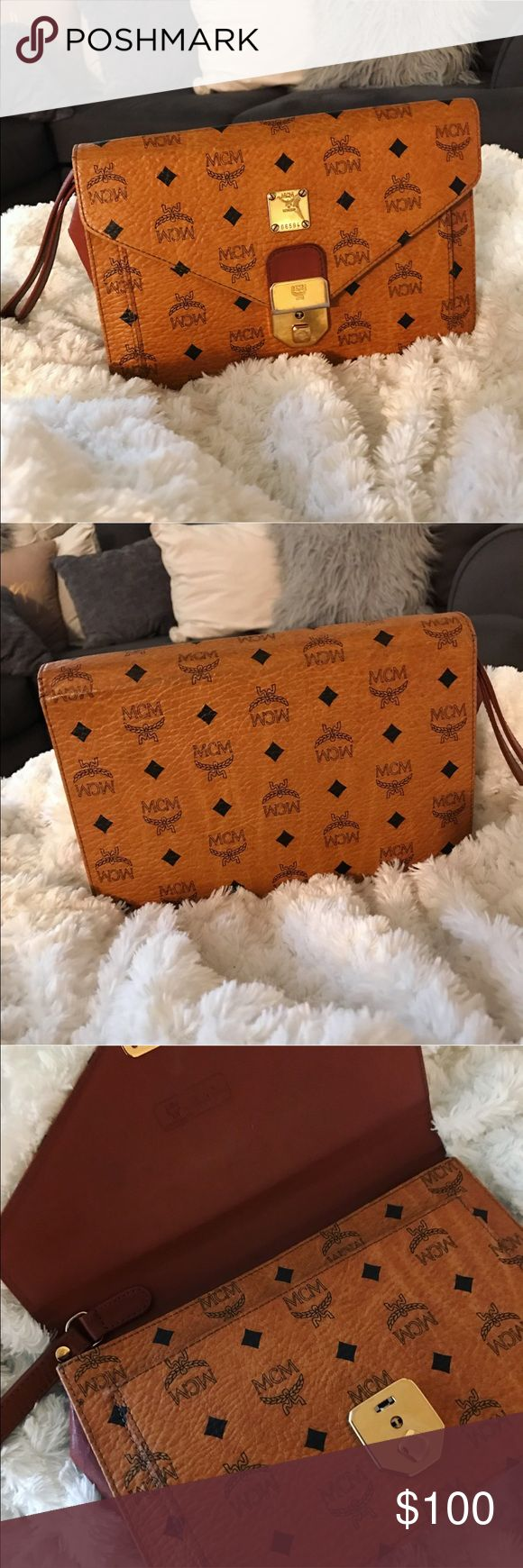 Mcm clutch! Can you say! The 90's! PERFECT ACCESSORY to any throwback fit! 😍 MCM Bags Clutches & Wristlets