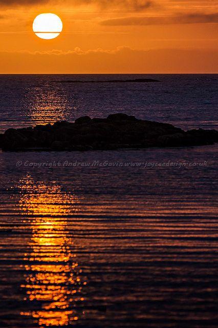 Sunset at Arisaig, Scotland  (copyright: Andrew McGavin)