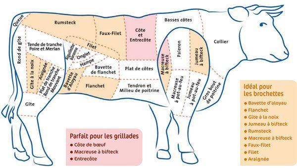 Bien choisir sa viande de boeuf – Des morceaux pour tous les goûts   Boucherie Chez Chartier