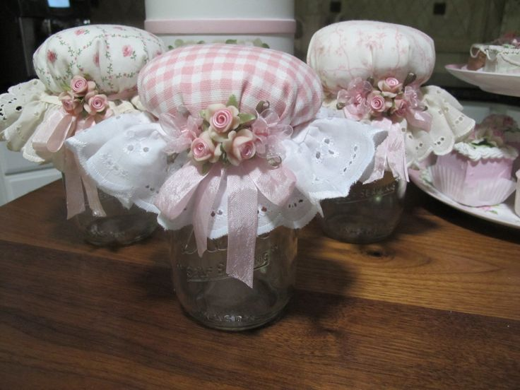 Mason jars ~ one for each of us!  THE ONE ON THE LEFT FOR JAN...