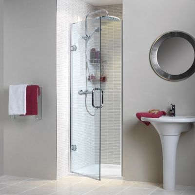 --- Our Sculptures Hinged Door will add luxury to your alcove installation. The door features an action as smooth as the glass it is made from. --- Available from Roman Ltd - British Made Luxury Shower Enclosures and Bath Screens. Images Copyright www.roman-showers.com