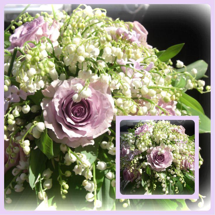"""Min første """"ekte"""" bukett. Liljekonvaller alltid en slager-og heldig at hun giftet seg akkurat når de var i full blomst;-)"""