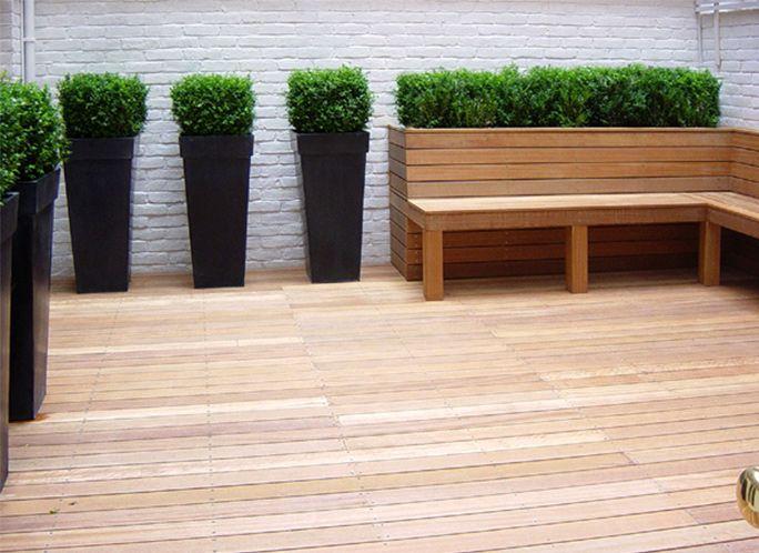 Lloyd Christie Garden Architecture London - hardwood & softwood decking design & installation, garden joinery / structures: Richmond, London UK