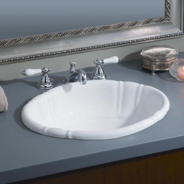 The Oval Fluted DropIn Sink Is The Utmost In Curved Elegance - Oval bathroom sinks drop in for bathroom decor ideas