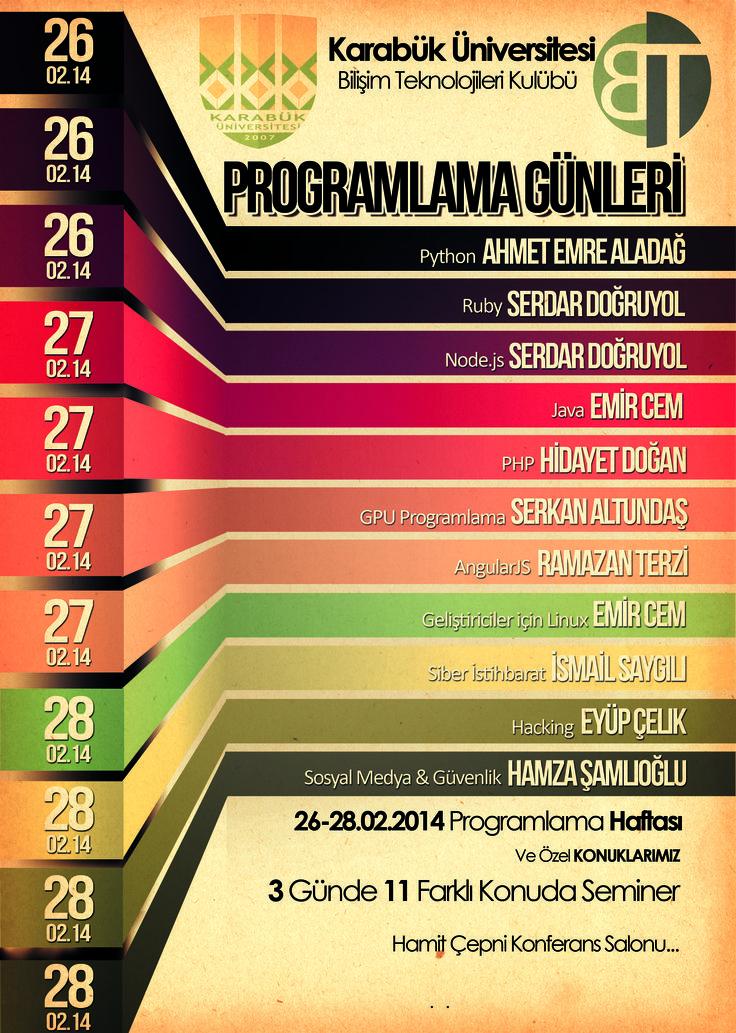 Programlama Günleri | 2013 | Genel Afiş