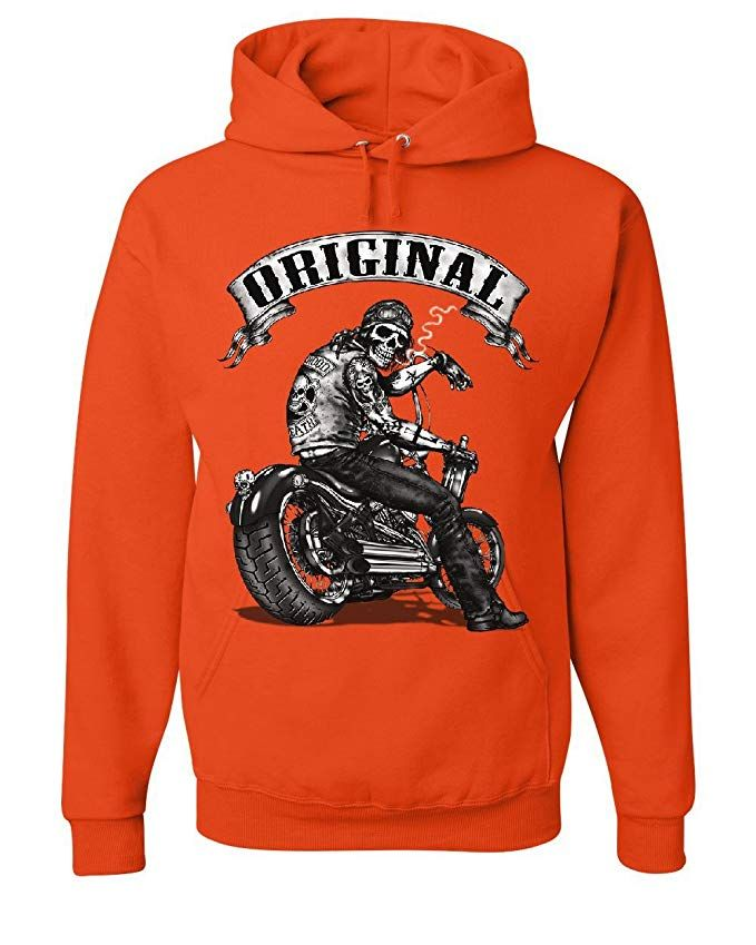Original Biker Skull T-Shirt Ride or Die Route 66 Motorcycle MC Tee Shirt