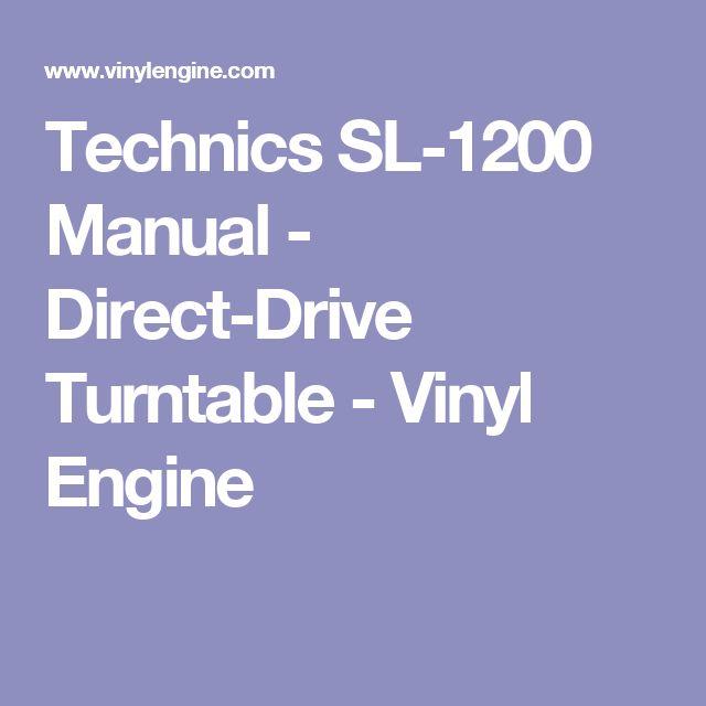 Technics Sl1200 Service Manual - dentalmediazone3p