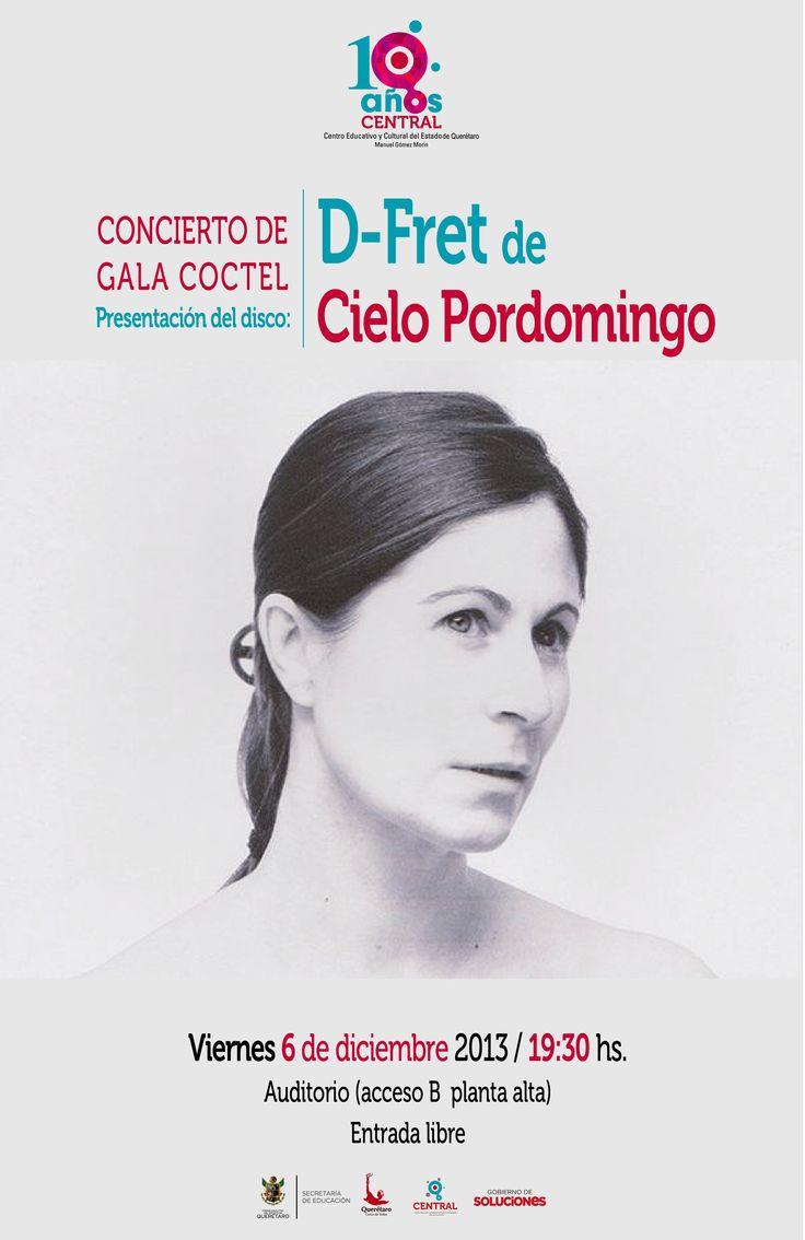 Cielo Pordomingo - concierto en #LaCentral #Queretaro #CentroCulturalManuelGomezMorin