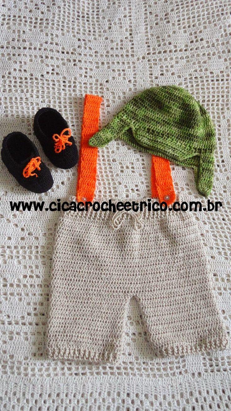 Ciça Crochê e Tricô: Roupa do Chaves em Crochê