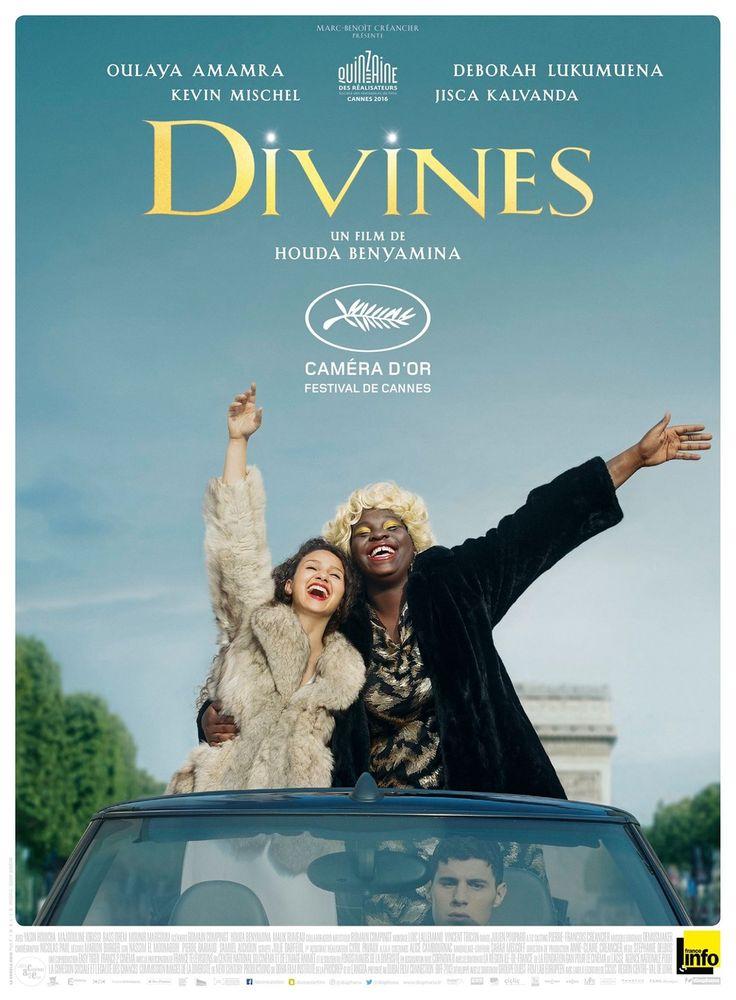 """""""Divines """"- Film de Houda Benyamina (2016) avec Oulaya Amamra, Deborah Lukumuena, Kevin Mishel. Un film qui a pour cadre une terrifiante banlieue mais qui parle avant tout de notre vie : l'amitié, l'amour,les rêves de l'adolescence, la mort. On rit, on pleure, on s'indigne...Un opéra-rock et mystique d'aujourd'hui. De jeunes acteurs très prometteurs, à voir absolument."""