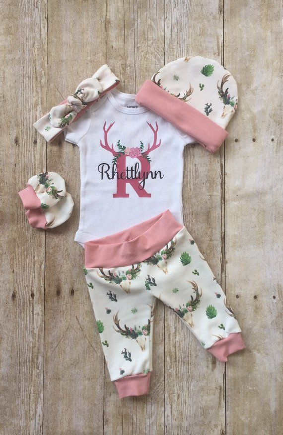 a24f8cb60 Floral Deer Skull Coming Home Outfit