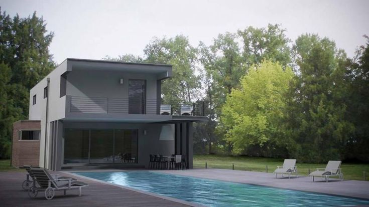 1000 ideas about house plans with photos on pinterest for Petite villa moderne