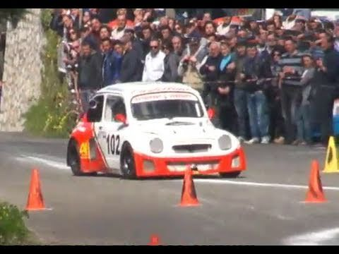 Crazy FIAT 600 Prototype - Suzuki Engine - wild motorsound - Hillclimb Slalom Massalubrense