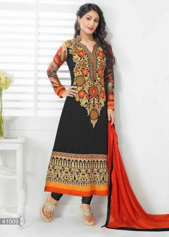 Beautiful  designer long indian anarkali  dress