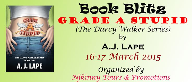 ‪#‎BookBlitz‬ ‪#‎Tour‬ Grade A Stupid by A.J. Lape starts tomorrow i.e 16th March..Checkout the #schedule and follow the #Tour‬ to win cool prizes! :) http://njkinnytoursandpromotions.blogspot.in/2015/03/tourkickoff-schedule-and-giveaway-grade.html ‪#‎Bestselling‬ ‪#‎YA‬ ‪#‎Mystery‬ ‪#‎Kickoff‬ ‪#‎NjkinnyTours‬  ‪#‎Giveaway