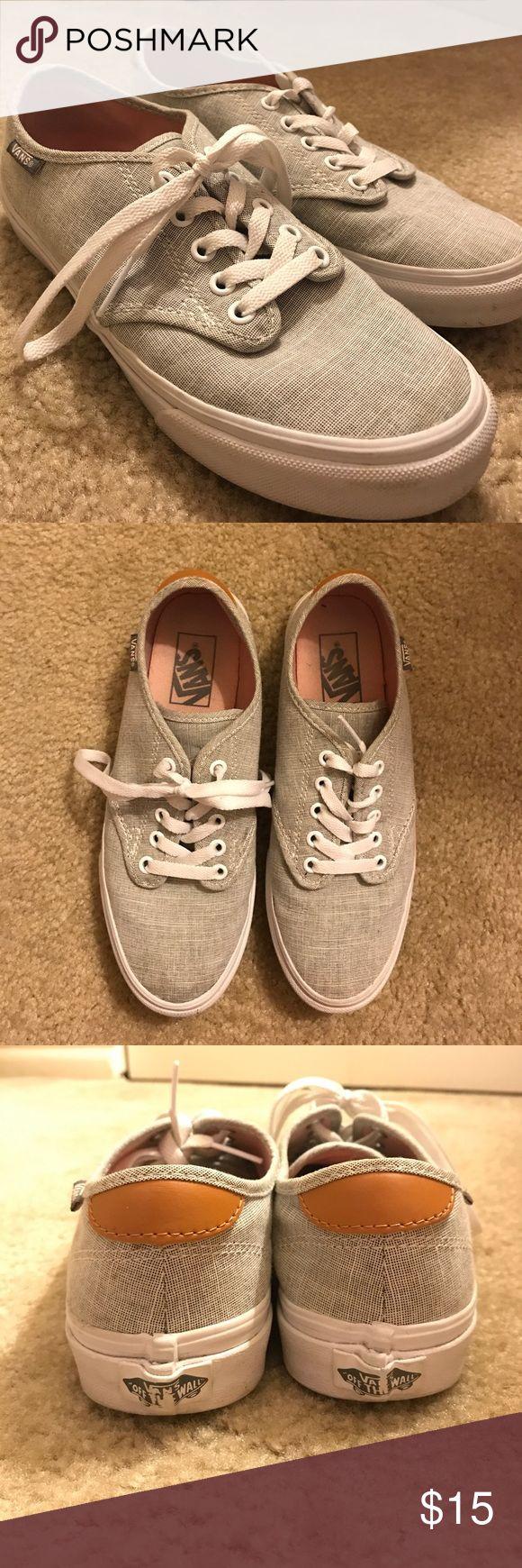 Women's Vans sneakers Barely worn vans sneakers. Very comfortable & clean! Nike Shoes Sneakers