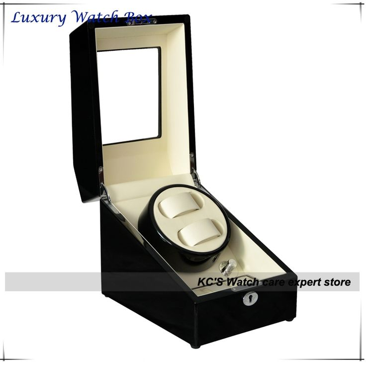 175.00$  Watch now - http://alilm1.worldwells.pw/go.php?t=32613504978 - Quality 2+3 Double Wooden Watch Winder with High Gloss Piano Paint Japan Motor Birthday Gift to Husband GC03-S24BW